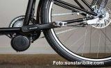 Bild eines Sunstar-Mittelmotors an einem Lastenrad