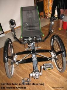 Foto des Prototyps des BamBuk-Trike auf der Spezi 2015